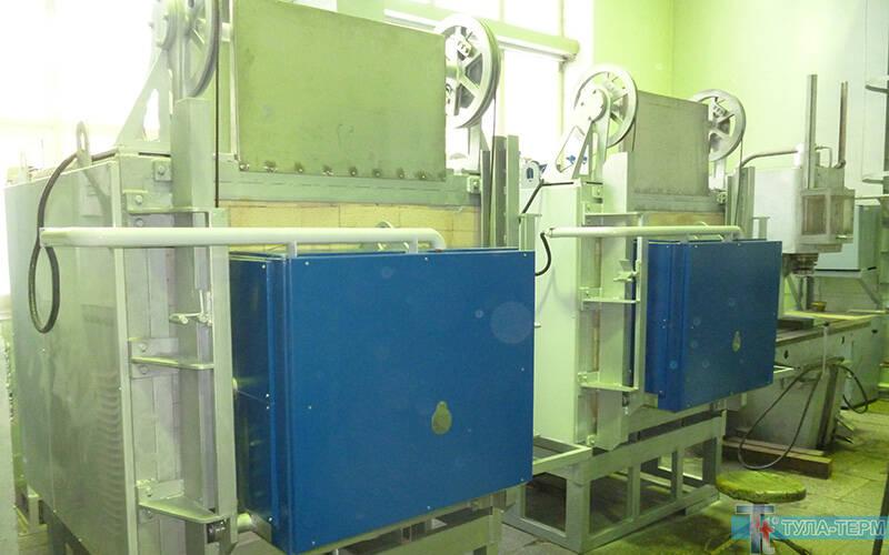 Камерные печи СНО на участке термообработки