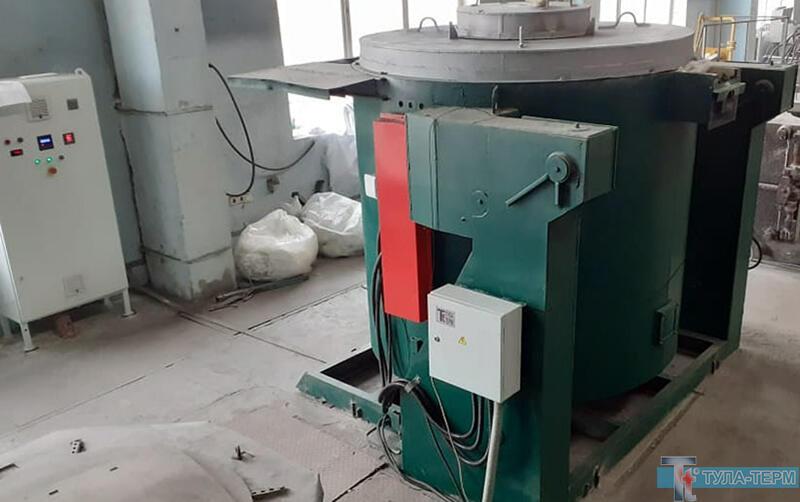ремонт печи для плавки алюминия САТ-1500